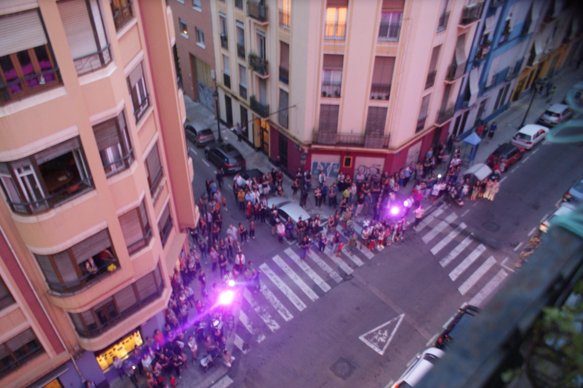 Blick auf die Zuschauer von Valencia Ventana Abierta!